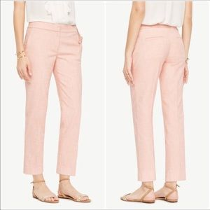 Ann Taylor Pink / White Textured Devin Ankle Pants